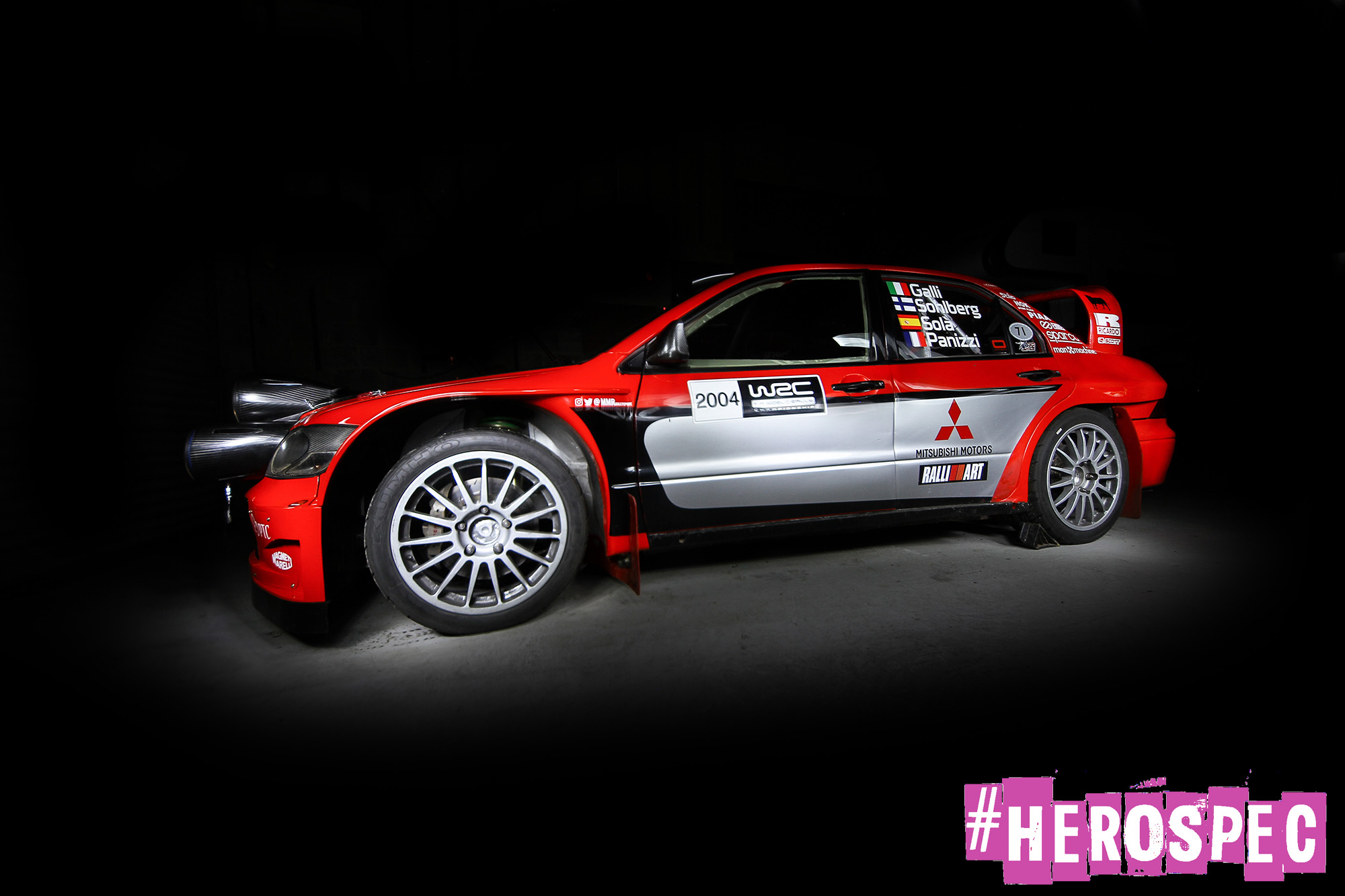 The Mitsubishi Lancer WRC Returns to Ireland! – #HEROSPEC